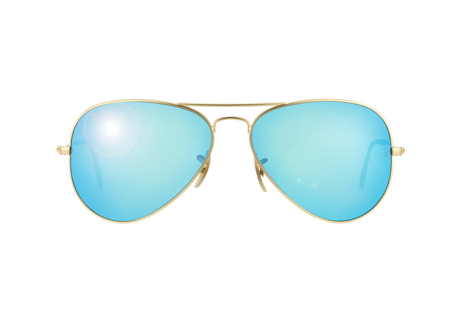ray ban aviator n69s  ray ban aviator gold blue mirror