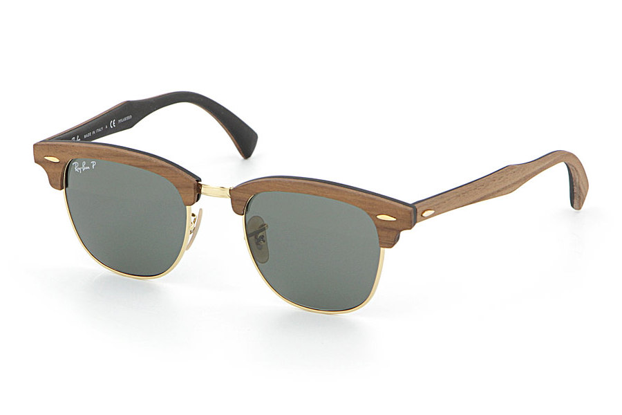 cf48c44b0e17 Ray-ban Rb3016m Clubmaster Wood Polarized