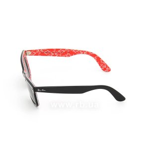 Очки Ray-Ban Original Wayfarer RB2140-1016 Black/Red Texture/Natural Green (G-15XLT), вид слева