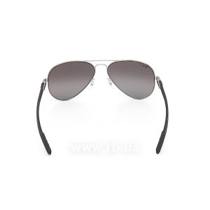 Очки Ray-Ban Aviator Carbon Fibre RB8307-004-N8 Gunmetal  | Neophan Polar Grey Silver Mirror P3 Plus, вид сзади
