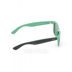 Очки Ray-Ban New Wayfarer Color Mix RB2132-6013 Top Havana on Green | Natural Green (G-15XLT), вид справа