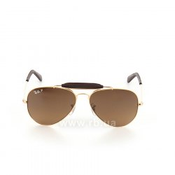 Очки Ray-Ban Craft Outdoorsman RB3422Q-001-M7 Arista | Polar Brown Gradient P3 Plus, вид спереди