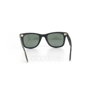 Очки Ray-Ban Original Wayfarer Urban Camouflage RB2140-6065 Black Rubber / Blue/Yellow Camouflage | Natural Green (G-15XLT), вид сзади