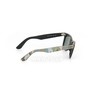 Очки Ray-Ban Original Wayfarer Urban Camouflage RB2140-6065 Black Rubber / Blue/Yellow Camouflage | Natural Green (G-15XLT), вид справа