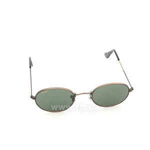 Очки Ray-Ban Bausch and Lomb Oval RBBL-W0969 Antique Bronze | Natural Green (G-15XLT), вид спереди