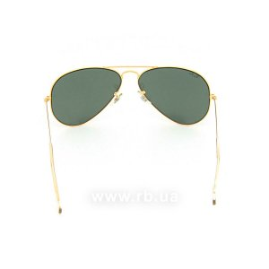 Очки Ray-Ban Bausch and Lomb Aviator RBBL-3025 Arista | Natural Green (G-15XLT), вид сзади