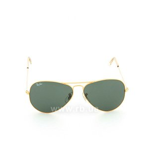 Очки Ray-Ban Bausch and Lomb Aviator RBBL-3025 Arista | Natural Green (G-15XLT), вид спереди