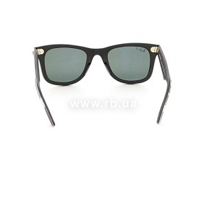 Очки Ray-Ban Original Wayfarer Urban Camouflage RB2140-6066-58 Rubber Grey/Black | Natural Green Polarized, вид сзади