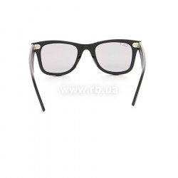 Очки Ray-Ban Original Wayfarer Special Series RB2140-901S-P2 Matt Black | Crystal Grey Polarized, вид сзади