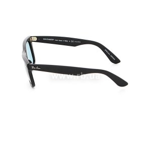Очки Ray-Ban Original Wayfarer Special Series RB2140-901S-3R Matte Black | Crystal Blue Polarized, вид слева