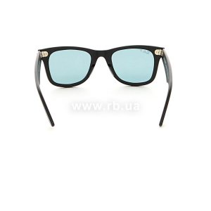 Очки Ray-Ban Original Wayfarer Special Series RB2140-901S-3R Matte Black | Crystal Blue Polarized, вид сзади