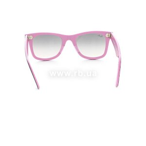 Очки Ray-Ban Original Wayfarer RB2140-995-32 Ribbing Grey / Lilac | Gradient Grey, вид сзади