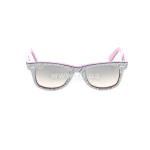 Очки Ray-Ban Original Wayfarer RB2140-995-32 Ribbing Grey / Lilac | Gradient Grey, вид спереди