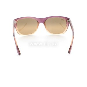 Очки Ray-Ban Highstreet RB4154-858-3K Violet Faded Sand/Brown Mirror Solver Faded, вид сзади