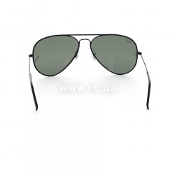 Очки Ray-Ban Aviator Full Color RB3025JM-002 Black | Natural Green (G-15XLT) 24