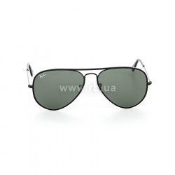 Очки Ray-Ban Aviator Full Color RB3025JM-002 Black | Natural Green (G-15XLT) 48