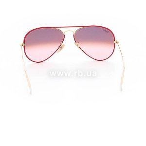 Очки Ray-Ban Aviator Full Color RB3025JM-001-X3 Arista | Pink Gradient Brown Photochromic, вид сзади