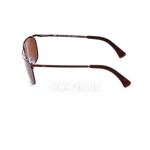 Очки Ray-Ban Olympian II Deluxe RB3385-014-57 Brown | Natural Brown Polarized, вид слева