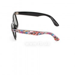 Очки Ray-Ban Rare Prints Wayfarer RB2140-1049 Smile Prints On Black | Natural Green (G-15 XLT) 12