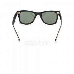 Очки Ray-Ban Rare Prints Wayfarer RB2140-1049 Smile Prints On Black | Natural Green (G-15 XLT) 24