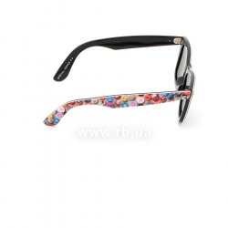 Очки Ray-Ban Rare Prints Wayfarer RB2140-1049 Smile Prints On Black | Natural Green (G-15 XLT) 36
