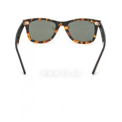 Очки Ray-Ban Original Wayfarer Fleck Asian Fit RB2140F-1157 Black / Brown | Natural Green (G-15XLT), вид сзади