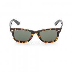 Очки Ray-Ban Original Wayfarer Fleck Asian Fit RB2140F-1157 Black / Brown | Natural Green (G-15XLT), вид спереди