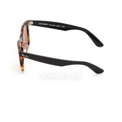 Очки Ray-Ban Original Wayfarer Fleck Asian Fit RB2140F-1160 Yellow / Brown | Natural Brown(B-15XLT), вид слева