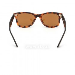 Очки Ray-Ban Original Wayfarer Fleck Asian Fit RB2140F-1160 Yellow / Brown | Natural Brown(B-15XLT), вид сзади