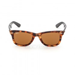 Очки Ray-Ban Original Wayfarer Fleck Asian Fit RB2140F-1160 Yellow / Brown | Natural Brown(B-15XLT), вид спереди