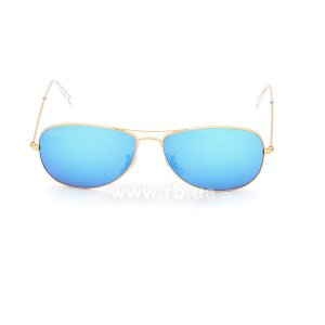 Очки Ray-Ban Cockpit Flash Lenses RB3362-112-17 Matte Arista | Green Mirror Blue, вид спереди