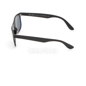 Очки Ray-Ban Liteforce New Wayfarer RB4207-601S-9A Matt Black | APX Grey/Green Polarized, вид слева