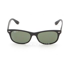 Очки Ray-Ban Liteforce New Wayfarer RB4207-601S-9A Matt Black | APX Grey/Green Polarized, вид спереди