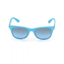 Очки Ray-Ban Liteforce Wayfarer RB4195-6084-8F Light Blue | Gradient Grey, вид спереди