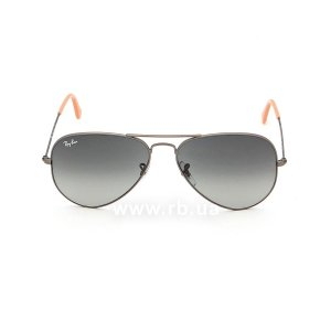 Очки Ray-Ban Aviator Large Metal RB3025-029-71 Matte Gunmetal | Grey/Green, вид спереди