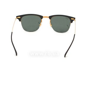 Очки Ray-Ban Clubmaster LightRay RB8056-157-71 Black /Arista | Grey/Green, вид сзади