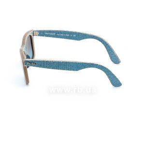 Очки Ray-Ban Original Wayfarer Denim RB2140-1164-4M Jeans Blue| Blue Gradient, вид слева
