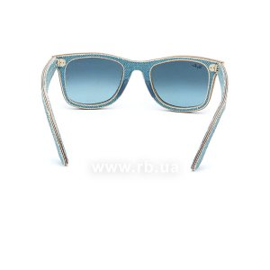Очки Ray-Ban Original Wayfarer Denim RB2140-1164-4M Jeans Blue| Blue Gradient, вид сзади