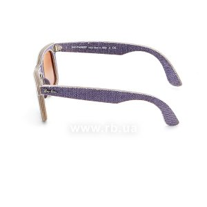 Очки Ray-Ban Original Wayfarer Denim RB2140-1167-S5 Jeans Violet | Gradient Violet mirror, вид слева