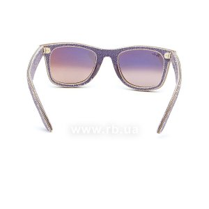 Очки Ray-Ban Original Wayfarer Denim RB2140-1167-S5 Jeans Violet | Gradient Violet mirror, вид сзади