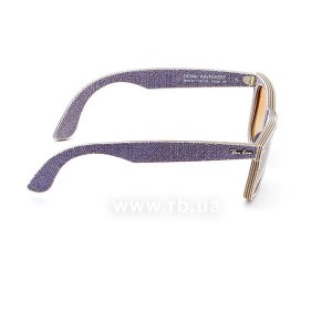 Очки Ray-Ban Original Wayfarer Denim RB2140-1167-S5 Jeans Violet | Gradient Violet mirror, вид справа