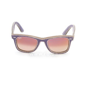 Очки Ray-Ban Original Wayfarer Denim RB2140-1167-S5 Jeans Violet | Gradient Violet mirror, вид спереди