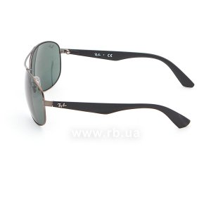 Очки Ray-Ban Active Lifestyle RB3526-029-71 Matt Gunmetal | Grey/Green, вид слева