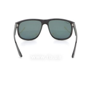 Очки Ray-Ban Boyfriend RB4147-601-58 Black | Natural Green Polarized, вид сзади