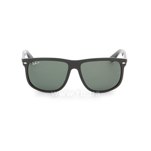 Очки Ray-Ban Boyfriend RB4147-601-58 Black | Natural Green Polarized, вид спереди