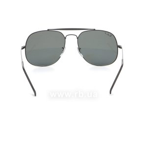 Очки Ray-Ban The General RB3561-002-58 Black/Natural Green Polarized, вид сзади