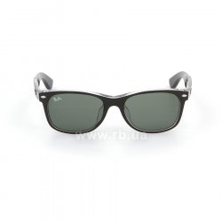 Очки Ray-Ban New Wayfarer Color Mix Asian Fit RB2132F-6052 Matt Black On Crystal | Natural Green (G-15XLT) 48