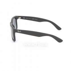 Очки Ray-Ban Justin RB4165-622-T3 Matt Black | Gradient Grey Polarized 12