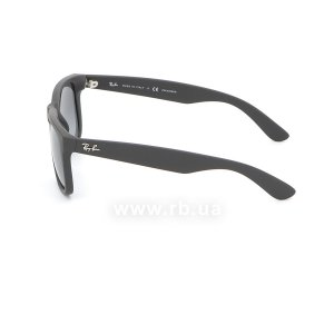 Очки Ray-Ban Justin RB4165-622-T3 Matt Black | Gradient Grey Polarized, вид слева