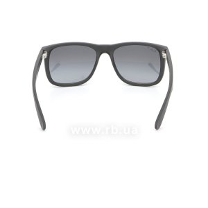Очки Ray-Ban Justin RB4165-622-T3 Matt Black | Gradient Grey Polarized, вид сзади